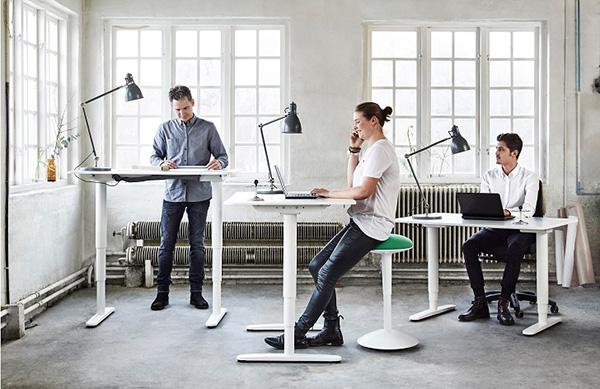 standup desks in the office